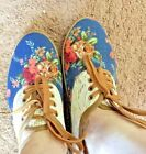 Catchfly Sneakers Denin Pink Roses and Lace Shoes Laces