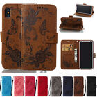 Patterned Leather Stand Card Wallet Case Cover Fr iPhoen XR XS MAX X 6s/7/8 Plus