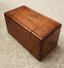 Antique SINGER 1889 WOOD FOLDING PUZZLE BOX With Attachments