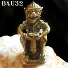 Brass Miniature Monkey LP Ding Wat BangWua Thai Buddha Amulet /Free 2 pieces #32