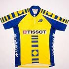 Vintage Assos Tissot cycling jersey size L blue yellow