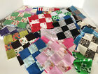VINTAGE QUILT BLOCKS 48 Piece Estate Lot 7x7 Squares Crazy Quilt Patchwork