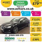 2016 BLACK AUDI A4 20 TFSI 190 S LINE PETROL AUTO SALOON CAR FINANCE FR 79 PW