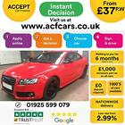 2011 RED AUDI A5 20 TFSI 180 S LINE SPECIAL EDITION COUPE CAR FINANCE FR 37 PW