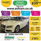 2011 WHITE AUDI A5 CABRIOLET 20 TFSI S LINE PETROL MANUAL CAR FINANCE FR 33 PW