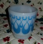 Blue And White Loop Tear Drop Fire King Mug