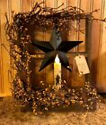 PRIMITIVE DECOR ~Timer Candle Window Box Display  ~ FARMHOUSE