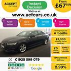 2015 BLACK AUDI A6 20 TDI ULTRA 190 S LINE AUTO SALOON CAR FINANCE FR 67 PW