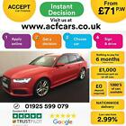 2015 RED AUDI A6 AVANT 20 TDI ULTRA 190 BLACK EDITION MAN CAR FINANCE FR 71 PW