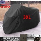 Black Waterproof Cover XXXL For Harley Davidson Electra Glide Classic FLHTC US
