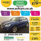 2014 BLUE AUDI Q5 20 TDI 177 QUATTRO S LINE + DIESEL MAN CAR FINANCE FR 79 PW