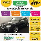2014 BLACK AUDI Q5 20 TDI 177 QUATTRO S LINE + DIESEL AUTO CAR FINANCE FR 83PW