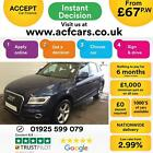 2015 BLUE AUDI Q5 20 TDI 150 QUATTRO S LINE DIESEL MANUAL CAR FINANCE FR 67 PW