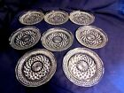 Anchor Hocking Crystal Wexford Scalloped Desert Bread n Butter Saucers? Plates 8