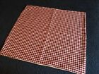 Early Homespun Hand-Loomed Check Tick Case Or Cover With Buttons