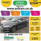 2016 GREY AUDI S3 SALOON 20 TFSI 310 QUATTRO 4DR AUTO CAR FINANCE FR 104 PW