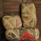 Primitive Pumpkins Set of 3 Large Bowl Fillers Cupboard Tucks Old Quilt
