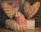 Primitive 3 Quilt Hearts Valentines Bowl Fillers Cupboard Tucks Handmade