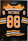 David Pastrnak Boston Bruins Adidas Authentic Home NHL Hockey Jersey Size 54
