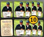 10 Phil Mickelson SUPREME CUTS Die Cut FACS Autograph EMBOSSED SAMPLE Cards L#40