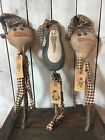 Primitive Snowman Doll Penguin Doll Pokes Christmas Doll Folk Art Doll Crocks