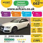 2015 WHITE AUDI A4 AVANT 20 TDI 190 BLACK EDITION DIESEL CAR FINANCE FR 62 PW