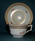 DERBY PORCELAIN  TEA CUP AND SAUCER,  C.1830, GILT AND