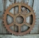 Large Vintage industrial steampunk cast iron gear sprocket lamp base project 24