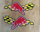 2 Sheets For 2 Sides Car Motorcycle Racing Red Bull Sticker Decal.