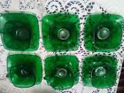 Anchor Hocking Fire King Set of 8pc Forest Green Charm,6 Cups Saucers,Crm