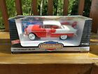 NIB Ertl 1955 Chevrolet Bel Air 1 18 Scale Red  White Hardtop Diecast Metal