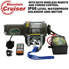 ATV UTV Winch 3500LBS Electric Winch Steel Cable Remote Wireless 12V DC