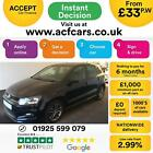 2015 BLACK VW POLO 12 TSI 90 R LINE PETROL MANUAL 5D HATCH CAR FINANCE FR 33PW