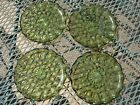Four Anchor Hocking Fairfield Avocado Green Bread Plates
