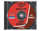 New CD-ROM 1966 Galaxie Shop Manuals Full-Size Ford and Mercury LTD Monterey
