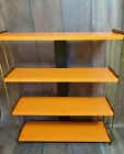 Mid Century Modern Metal Shelves Industrial Steel Gold Toned. Single Unit.