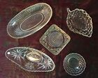 Choose From 5 Vintage Clear Glass Dishes - For Candy, Kitchen, or Vanity