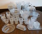 Vintage Anchor Hocking Wexford Lot Glass Cookie Jar Retro Mid Century Dish Set!!