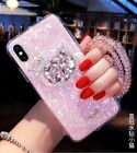 Cute Bling Diamonds Hello Kitty Strap Shell Case Cover for iPhone XS Max XR 7 8+