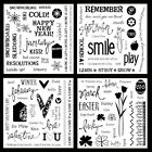 65 off Brand New CTMH Acrylic D stamps Word Puzzle September January February