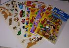 Disney Scrapbook Sticker Lot Pooh Mickey Pinocchio Chip n Dale and More