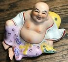 CHINESE FAMILLE ROSE HAPPY BUDDHA PORCELAIN STATUE