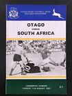 1047 - SOUTH AFRICA 1981 tour v Otago (NZ) Rugby Programme Aug 11th 11/08 Boks
