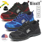 Mens Safety Work Shoes Steel Toe Boots Outdoor Sneakers Hiking Climbing Sport 8