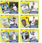 2017 Topps Set of 6 Throwback Thursday Then & Now World Series Astros & Dodgers