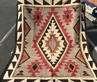 NAVAJO RUG AN AUTHENTIC NATIVE AMERICANS NAVAJO RUG REAR SIZE