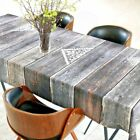 Unique Native Vintage Wood Planks Design Tablecloth Napkins Up To 330 Feet