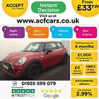 2015 RED MINI ONE 12 102 PETROL 3DR HATCH CAR FINANCE FR 33 PW