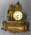 Unique decorative Antique Original French Gilt Marble Clock