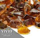VIVID COPPER AMBER 1 2 3 4 Large Fireplace Fire Pit Fireglass Glass Crystals